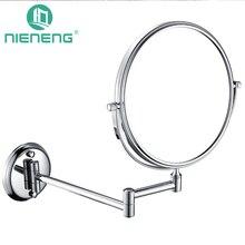 nieneng bathroom makeup mirrors wall mounted folding mirror 3x 5x 7x 10x bath mirror make up