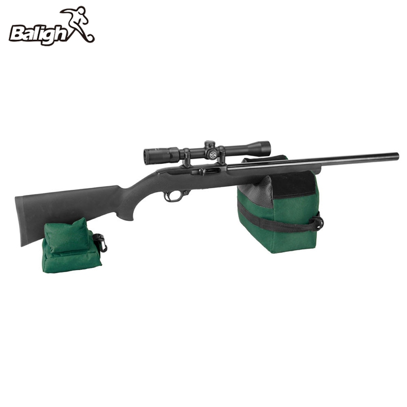 Balight Shooting Rear Gun Rest bolsa portátil trasero Rifle Target Tactical Bench Unfilled Stand Accesorios