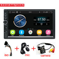 2 Din Android 6.0 Car Radio Stereo 71024*600 Universal Car Player GPS Navigation Wifi Bluetooth USB Radio Audio Player No DVD