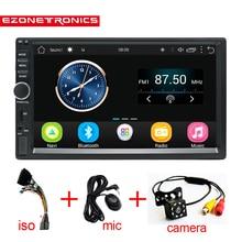 2 Din Android 6,0 Автомобильный Радио Стерео 7 «600*1024 Универсальный Автомобильный плеер gps навигация Wifi Bluetooth USB Радио Аудио плеер без DVD