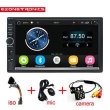 2 Din Android 6,0 автомобильный радиоприемник стерео 7 «1024*600 Универсальный Автомобильный плеер gps навигации Wi-Fi Bluetooth USB радио Аудио плеер No DVD