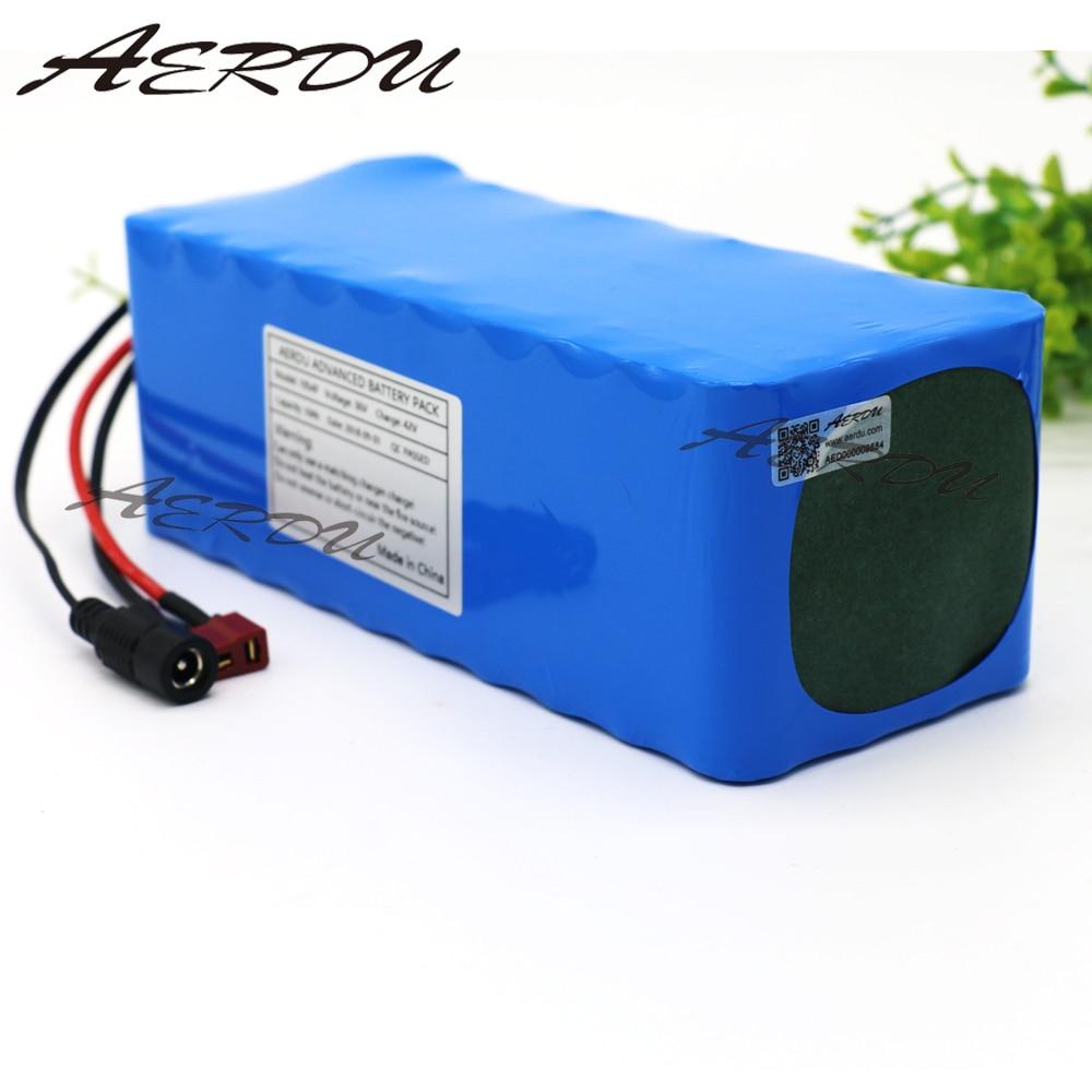 AERDU 36V 10S4P 10Ah 500W High power capacity 42V 18650 lithium battery pack ebike electric car