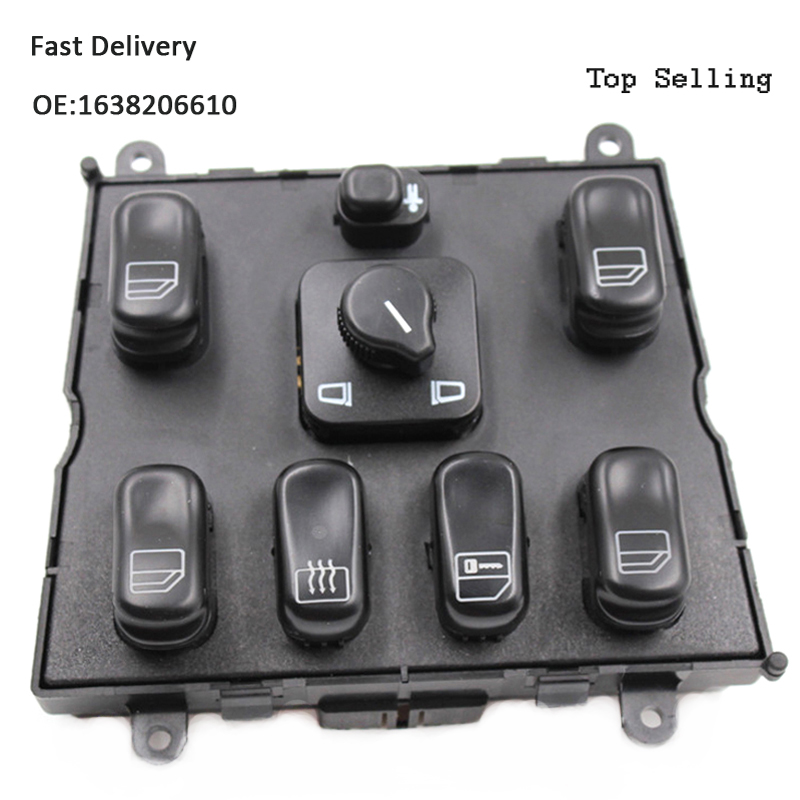 YAOPEI Free Shipping Hight Quality 1638206610 Power Window Switch For Mercedes Ben z W163 ML320 ML430