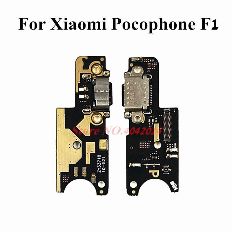 Original USB Charging Dock Port Flex Cable For Xiaomi Pocophone Poco F1 Charger Plug Connector Ribbon Replacement Parts