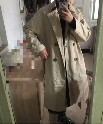 Spring And Autumn Women Fashion Brand Korea Style Waist Belt Loose Khaki Color Trench Female Casual Elegant Soft Long Coat Cloth 69