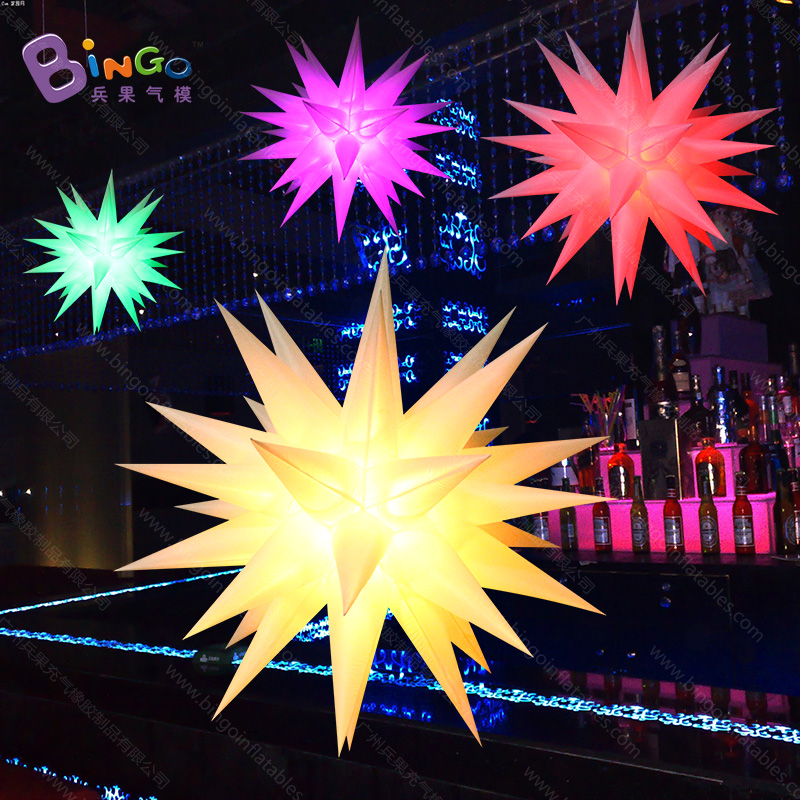 Free Shipping 1.2 Meters diameters Colors Changable Inflatable Lighting Stars hot Birthday Party decorations For display toy