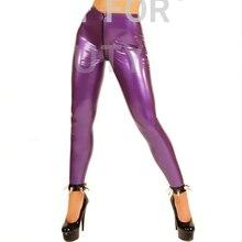 Latex Trousers For Women Fetish Capris Legging Pants Zipper Show your Sexy Plus Size Customization 100% Natural Handmade