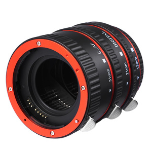 Image 2 - מתכת הר עדשת מתאם פוקוס אוטומטי AF מאקרו Tube הארכת טבעת עבור Canon EOS EF S עדשת 750D 80D 7D T6s 60D 7D 550D 5D סימן IV