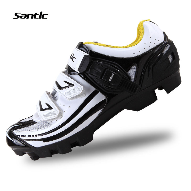 Santic Cycling Shoes Professional Cleated Mountain BIke Racing Athletic Shoes Breathable Self-locking Bicycle Shoes For Men polaris phm 2010