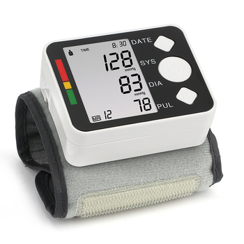 Wrist Blood Pressure Monitor LCD Digital Meter Cuff Measurement Tonometer Personal Health Blood Heart Care for Doctor's Home Use 2