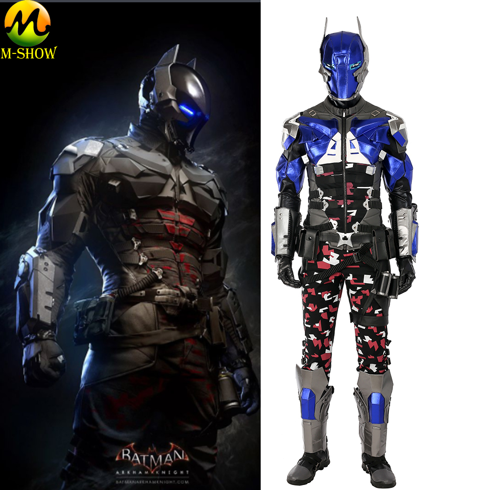 Game Batman Arkham Knight Cosplay Costume Halloween Costumes For Adult Men Cosplay Full Set Full Body Armor Custom Made