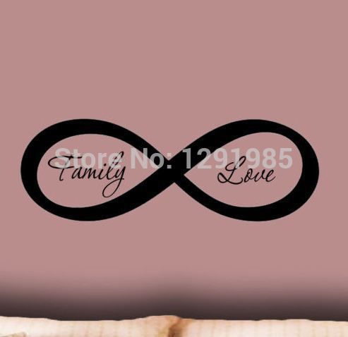 Personalized Infinity Symbol Bedroom Wallpaper Wall Decal Family Enchanting Infinity Love Quotes