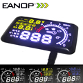 EANOP 5.5 LCD Display headup HUD OBD ii Car Styling Kit de coche de combustible de Exceso de velocidad KM/H para Toyota Ford BMW Benz Mazada