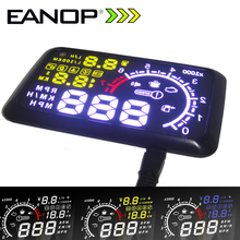 EANOP HUD Head UP 5.5 LCD Display OBD ii Car Styling Car Kit de combustible de Exceso de velocidad KM/H para Universal coche