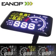 Eanop 5.5 HUD headup Дисплей автомобиля Скорость проектор автомобилей HUD лобовое стекло проектор головы OBD2 топлива более Скорость км/ч для Toyota Форд Bmw