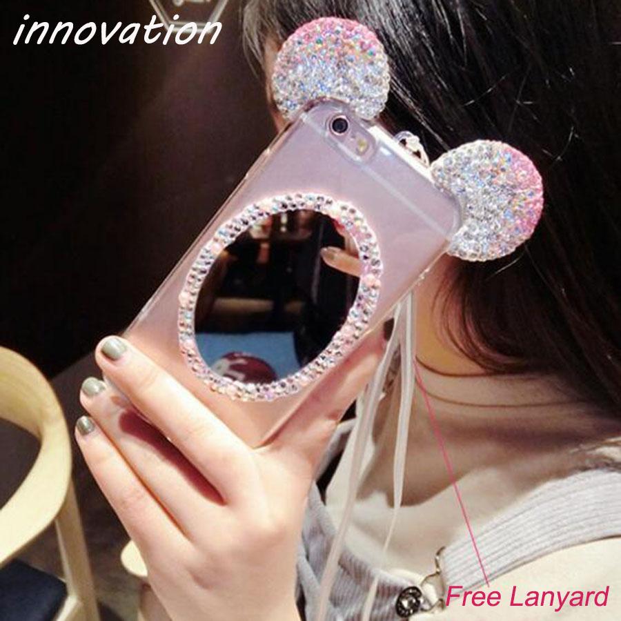 HTB1JM53SFXXXXbJXVXXq6xXFXXXl - Luxury Crystal Mirror Glitter Rhinestone Mickey Ears Phone Cases PTC 179