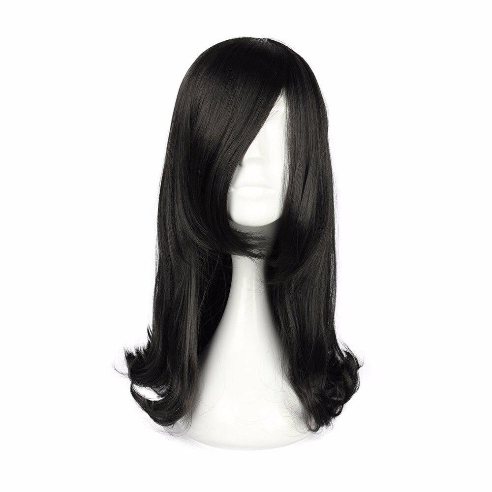 Mcoser 45 см длинные волнистые синтетические 7 цветов Розовый Синий Коричневый Косплэй 100% Высокое Температура Волокно волосы парик-5