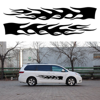 2 X Spectacular Flames Soar Continue To Move Forward Struggle Ahead Y Car Sticker for All Smooth Surface Vinyl Decal
