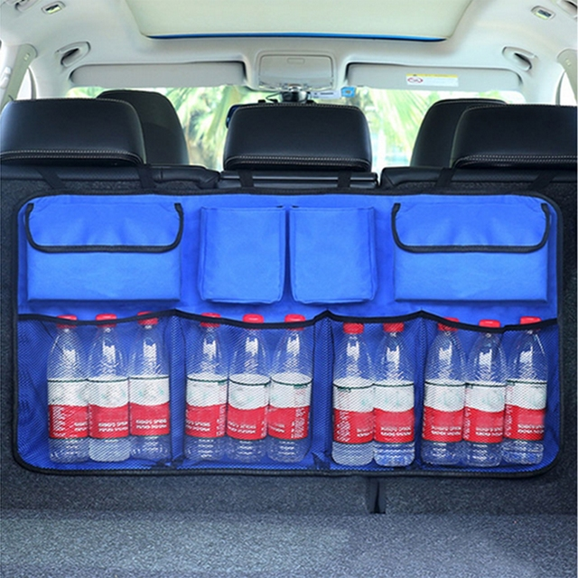 Auto Car Organizer Trunk Back Seat Universal Storage Bag Mesh Net Pocket Bag 4 Colors
