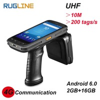 Android 6.0 PDF417 Barcode Scanner Long distance tag reading 10M UHF RFID reader 4G Handheld PDA computer with 13MP camera