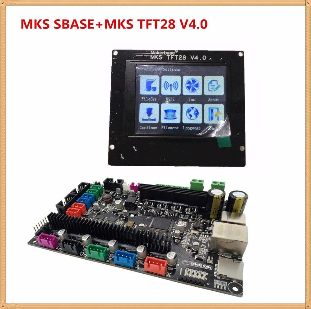 МКС SBASE V1.3 материнской платы + МКС TFT28 V4.0 дисплей полноцветный TFT FDM принтера обучения контроллер комплект все в одном смузи доска