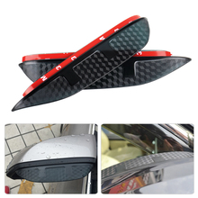 SNCN 2PCS Rearview Rain Eyebrow Guard Cover Side Door Mirror Visor Shield Fit for Audi A1 A3 A4 b7 b8 b9 A5 A6 Q3 Q5 Q7 2pcs set carbon fiber replacement side wing rear view rearview mirror cover w o side lane assist for audi a8 a3 q3 a4 b8 a5 a6
