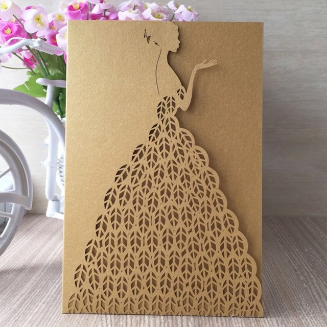 12pcs Lot Royal Wedding Invitation Card For Paper Bride Design Bat