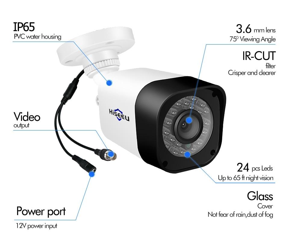 HTB1JM6QbojrK1RkHFNRq6ySvpXa8 Hiseeu CCTV camera System 4CH 720P/1080P AHD security Camera DVR Kit CCTV waterproof Outdoor home Video Surveillance System HDD