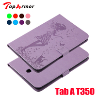 TopArmor PU Leather Stand Shell Case For Samsung Galaxy Tab A 8 0 Inch SM T350