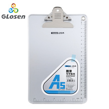 купить A5 Clipboard Aluminum Alloy with Ruler Book Board Clip Note Office File Menu Board Clip Glosen C1083 по цене 562.51 рублей