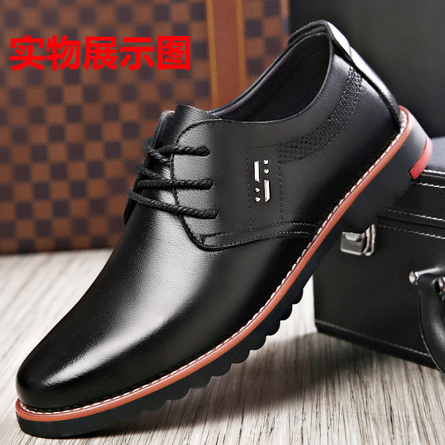 884f23624 2018 new leather casual shoes with business young with soft surface  comfortable single men s shoes
