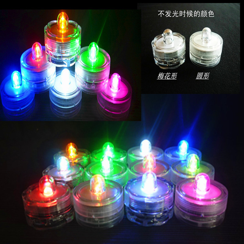 New Creative LED Waterproof Candle Light Fish Tank Light Bar Party Wedding Electronic Candle Light Diving Light Toy