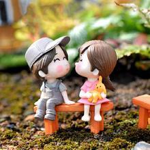 Горячая распродажа! 3 шт./компл. стул любовников миниатюрный пейзаж DIY украшение сада Кукольный дом Декор