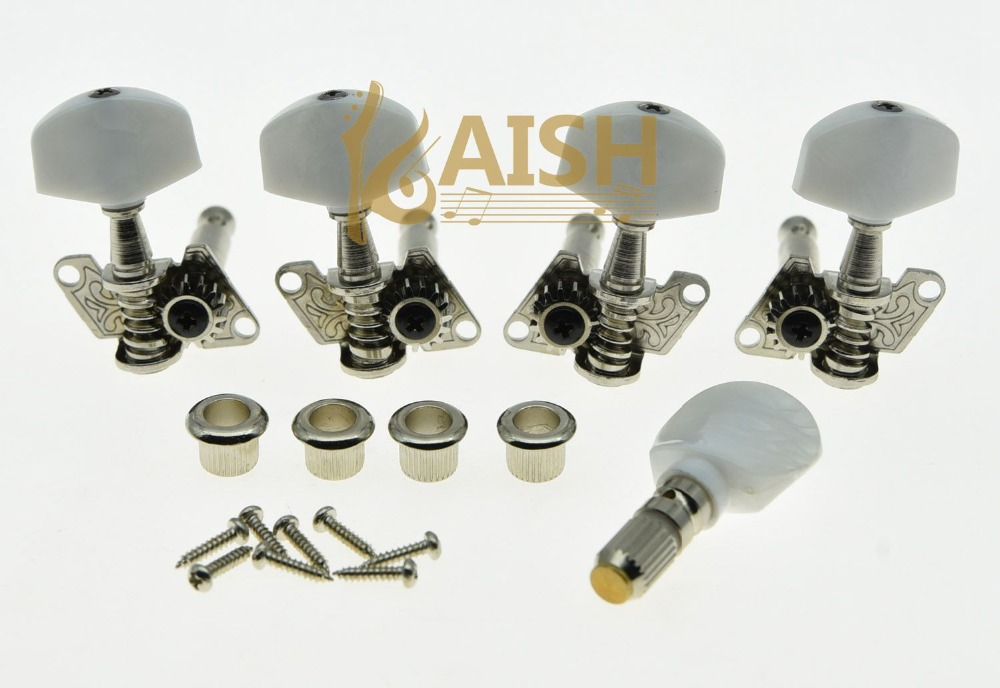 KAISH Set of 5 Nickel Banjo Tuners Tuning Keys Pegs Machine Heads