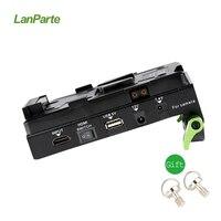Lanparte VBP 01 V Mount Батарея Pinch HDMI Splitter Питание адаптер V замок для DSLR Камера Rig