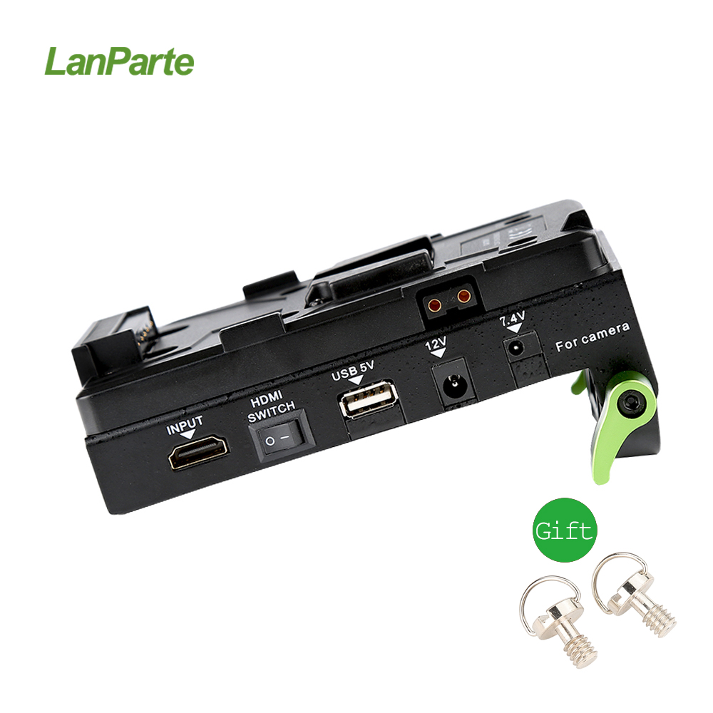 Lanparte VBP-01 V-Mount Battery Pinch HDMI Splitter Power Supply Adapter V-Lock for DSLR Camera Rig v lock v mount battery adapter plate fr converter sony hdv dslr rig supply