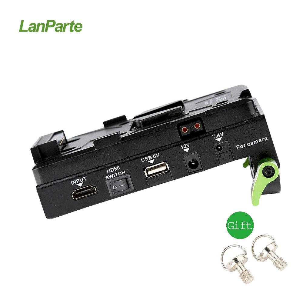Lanparte VBP-01 v-mount batterie pince HDMI séparateur adaptateur d'alimentation v-lock pour appareil photo reflex numérique