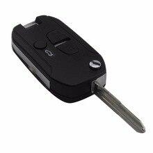 Maizhi 3 кнопки дистанционного автомобиль-Стайлинг случае ключ для Mitsubishi Lancer CJ удаленного Оболочки крышка Корпус (левый паз лезвие)