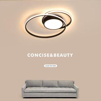 Простые современные светодиодные потолочные лампы для спальни, кабинета, балкона, кухни, Lamparas De Techo Colgante, алюминиевый потолочный светильник