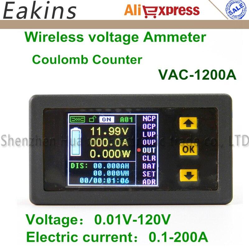 1200A Color Multifunction Digital LED power meter monitor Voltage KWh meter kw meter Volt Ammeter voltmeter 0.01-120V 0.01-200A