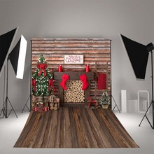 Photography Backdrops Christmas-Fireplace Birthday-Party MEHOFOTO