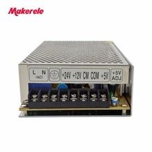 customized triple dc output 5V 12V 24V T-100E 100w three outputs switching power supply 2a 2a 3a with CE цена и фото
