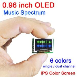 Image 1 - Dykb 0.96 Inch Kleur Oled Muziek Spectrum Display Analyzer W/Klok MP3 Versterker Audio Indicator Ritme Analyzer Vu meter