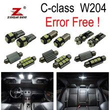 17 шт. светодиодные лампы Интерьер плафон комплект для Mercedes Benz C Class W204 седан C180 C200 C220 C250 C300 c350(08-14