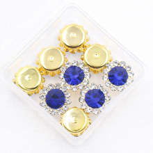 Shine 20pcs 10mm/12mm Sew on Rhinestone Sewing Crystal Stone with Sliver Claw AB Color for Clothes