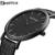 GEEKTHINK Top Marca de Luxo relógio de Quartzo homens de Negócios Casual Preto Japão relógio de quartzo-relógio de couro genuíno ultra fino masculino nova