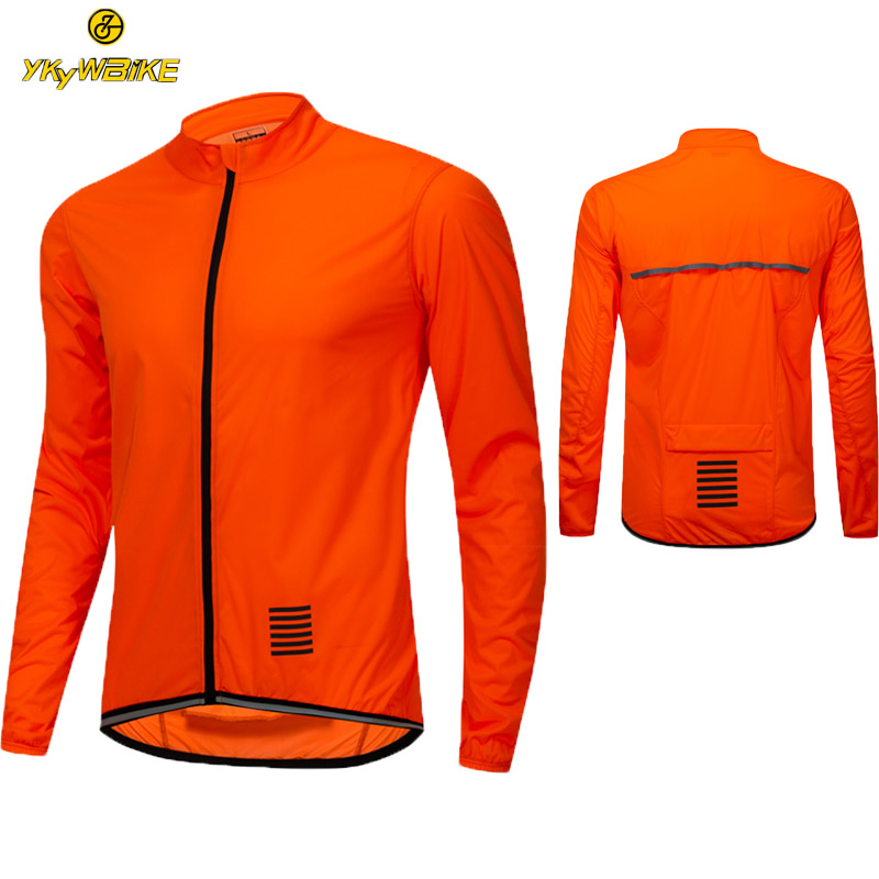 Cycling Jersey Man Long Sleeve Windproof Reflective MTB Bicycle Cycling Clothing Ropa Maillot Ciclismo Windbreaker Jacket Bike