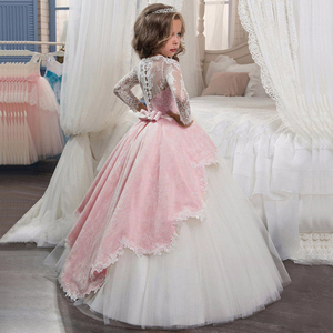 Image 1 - Kids  Flower Girls Dresses For Party and Wedding Dress Girls Easter Costume Children Pageant Gown Girls Princess Dress 4 12T