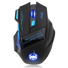 Puscard Adjustable 2400DPI 7 Buttons Ergonomical Mice Optical Wireless Cordless Sem Fio USB Gaming Mouse For Computer Laptop PC