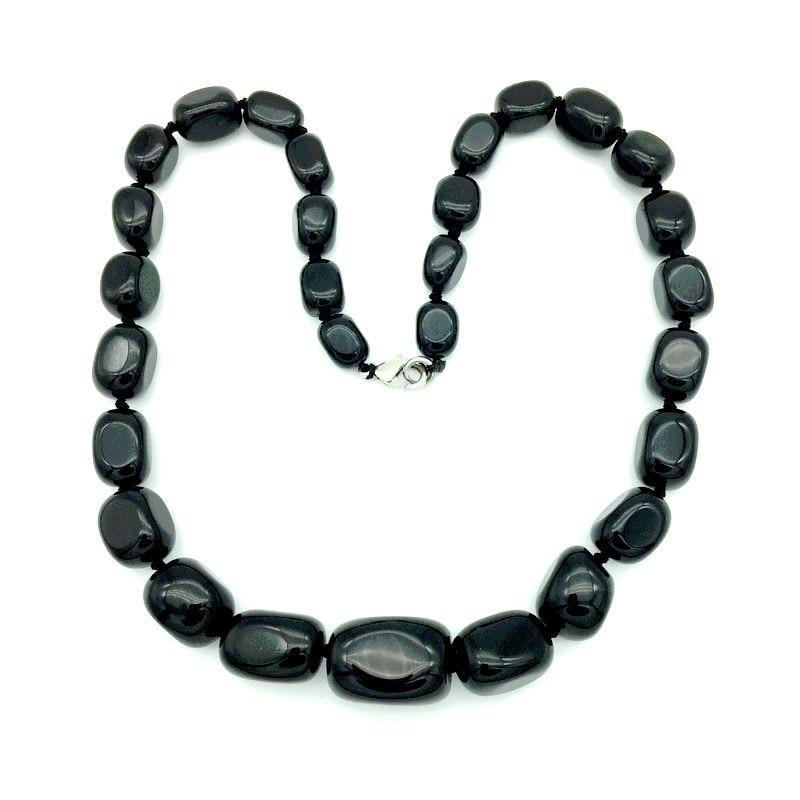 Granos de piedra natural Graduado Gargantilla Collar Partido Joyería - Bisutería - foto 4